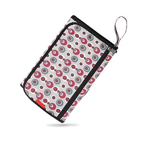 LYYAN Estera Cambiador Portátil de Pañales para Bebé Impermeable Kits para Cambio de Pañales Multifuncional Plegables Esterilla Bolsa de Pañales para Viajar a Casa Estera (Color : D)