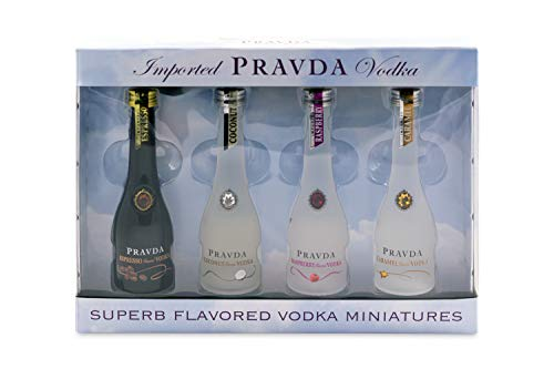 Pravda Vodka Flavored Miniaturen Set (4 X 0.05l)
