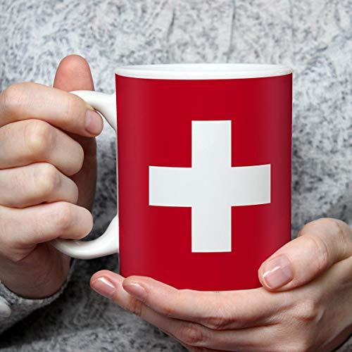 Geschenk Tasse mit Flagge Schweiz Länder Flaggen Geburtstagsgeschenk Souvenir Suisse für Reiseliebhaber Frauen Männer