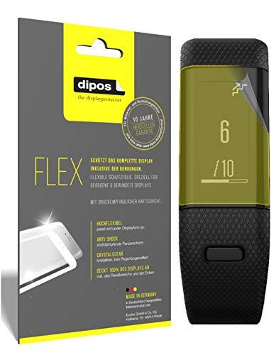 dipos I 3X Schutzfolie 100% passend für Garmin vivosmart HR Plus Folie I 3D Full Cover Displayschutzfolie