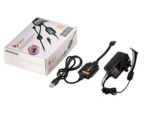 Bipra - Kit Adaptador con Cargador (Conector USB 2.0 a SATA/IDE para...
