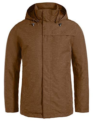 VAUDE Men's Limford Jacket III Veste d'hiver pour Le Quotidien Moderne # étanche à l'eau et au Vent, Respirante # Chaude # à la Fabrication écologique Homme, Umbra, FR : 2XL (Taille Fabricant : XXL)