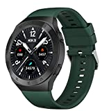 LSQ 2021 Nuevo Reloj Inteligente Monitor de Ritmo cardíaco Impermeable Deporte Fitness Call Hombres Mujeres Smartwatch para Android iOS,A