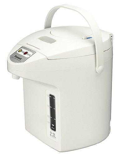 ピーコック 電気保温エアーポット(非沸とうタイプ) 2.2L ホワイト WJP-22-W