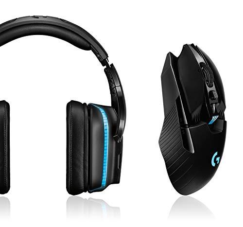 Logitech G935 Kabelloses Gaming-Kopfhörer + G903 Lightspeed kabellose Gaming-Maus (mit Hero 16K-Sensor, 140+ Stunden Akkulaufzeit mit wiederaufladbarem Akku