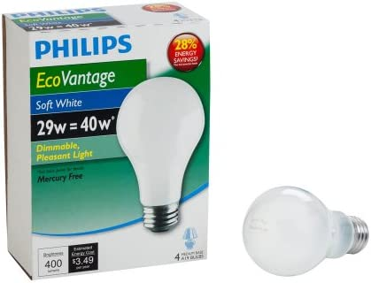 Philips 426007 29 watt A19 Dimmable Light Bulb Soft White 4 Pack product image