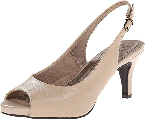 LifeStride Womens Teller Dress Pump, Taupe, 10 M US
