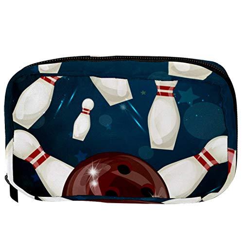LORVIES - Bolas de bolillos para cosméticos, bolsa de maquillaje, bolsa de viaje, organizador de baño para mujeres