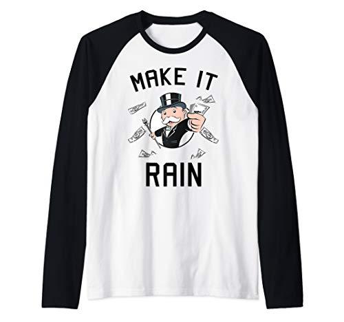 Monopoly Make It Rain Raglan Baseball Tee
