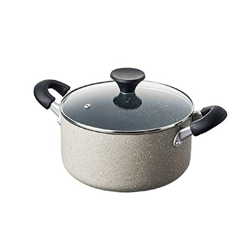 DDSPAL Increase The Soup Pot at Home Easy to Clean Non-Stick Pan Double Bottom Cooker Binaural Portable Belt Magnetic Oven Gas Stove Universal Skillet 24cm (Size : 20cm)