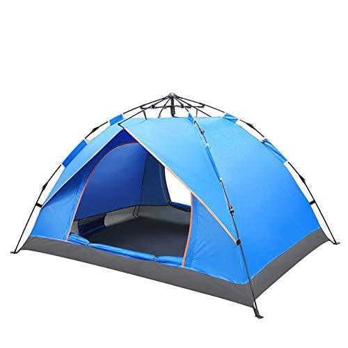 Mdsfe, tenda da campeggio per 2 persone, impermeabile, portatile, anti-UV, tenda per esterni, ad alta velocità, con la tenda KEOGHS – 2 persone, blu