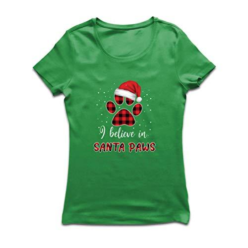 lepni.me Frauen T-Shirt Kuschelig Weihnachten Süß Tier Geschenk für Liebhaber (XX-Large Grün Mehrfarben)
