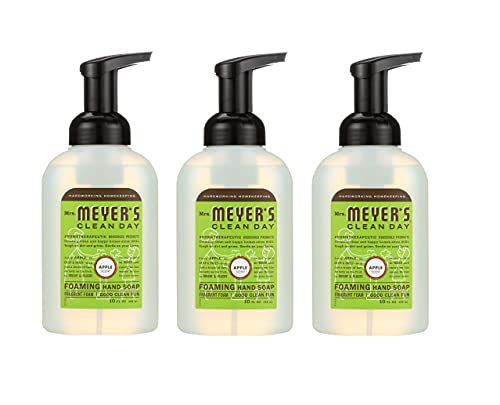 Mrs. Meyer's Foaming Hand Soap, Apple, 10 fl. oz. (Pack - 3), Green
