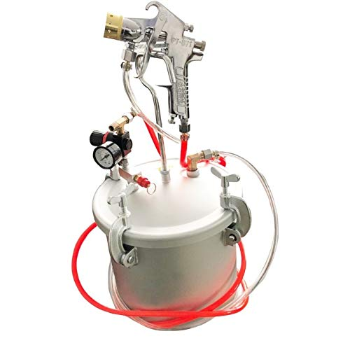 XuetongXT Prevailing Spray Gun Tool Pressure Bucket Barrel Imitation Marble Spray Paint Gun 3.0mm Nozzle Airbrush airless Painting Sprayer Superlative (Color : 10L)