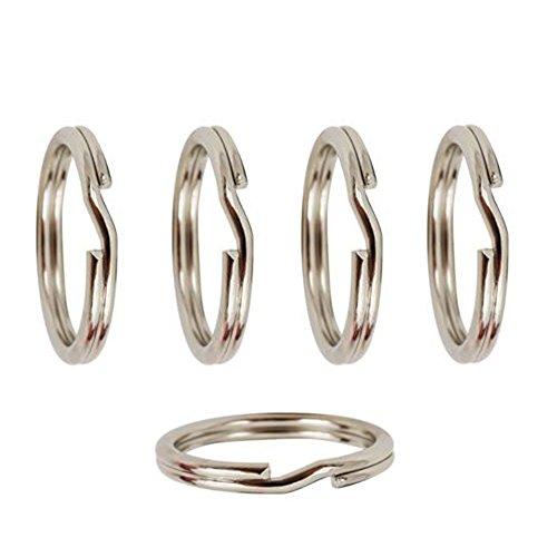 TJS Split Jump Rings, 10 Pcs, 925 Sterling Silver, Nickel-Free, Strong, Diameter 7mm