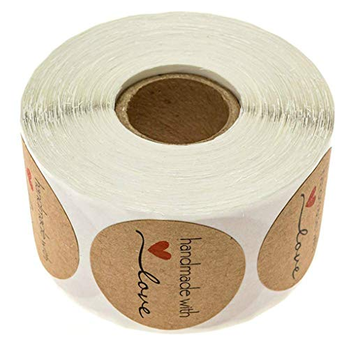 Mingtongli 500PCS / Rolle handgemachte DIY Hochzeit Urlaub Self Adhesive Backen-Aufkleber-Umschlag-Lable-Papier-Geschenk-Umbauten
