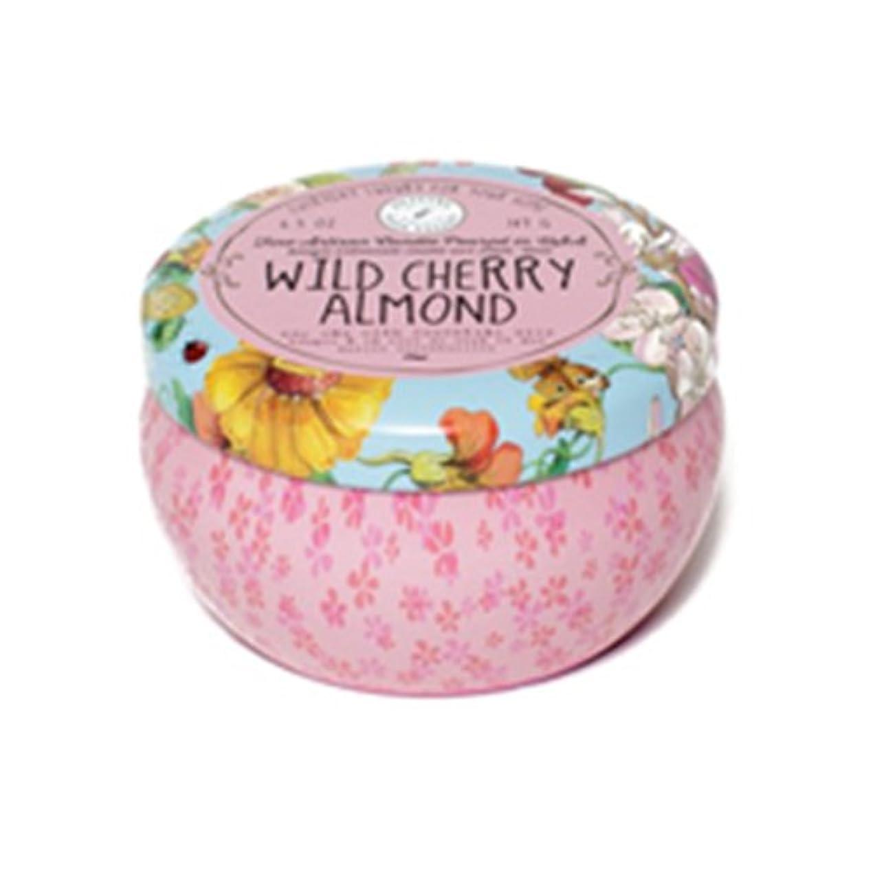 褐色倒錯巨大なNapa Valley Apothecary wild cherry almond ワイルドチェリーアーモンド 缶キャンドル tin candle ナパバレーアポセカリー Olivina オリビーナ