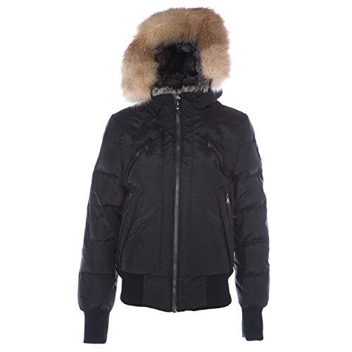 Pajar Nikki Women's Duck Down Fur Trim Bomber Winter Coat Black Size L