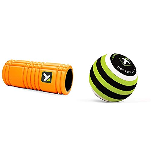 Trigger Point Foamroller Grid - Mit kostenlosen Online-Videos & Point Massage Kugel MB1, Lime, 350051