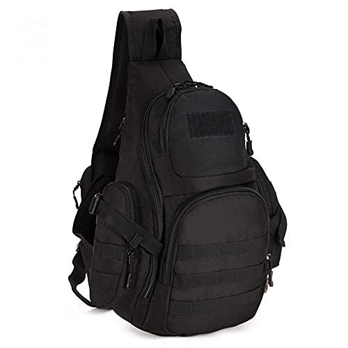 JJBKT 35L mochila táctica, impermeable camping senderismo hombres mochila militar, deportes al aire libre supervivencia bolsa de hombro, Hombre, 3076431128, negro, 30 - 40L