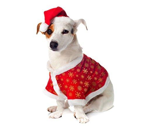 Mediawave Store 901097 kerstkostuum met kerstmuts kleine en grote dieren, Large