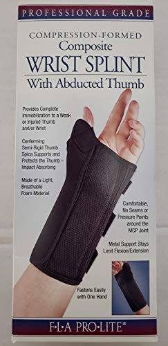 ProLite Wrist Splint with Abducted Thumb : Large - Right