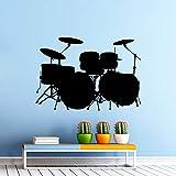 yaonuli Vinyl Wandtattoo Rock Band Design Home Schlafzimmer Dekoration Musik Trommel Wandbild42X29cm