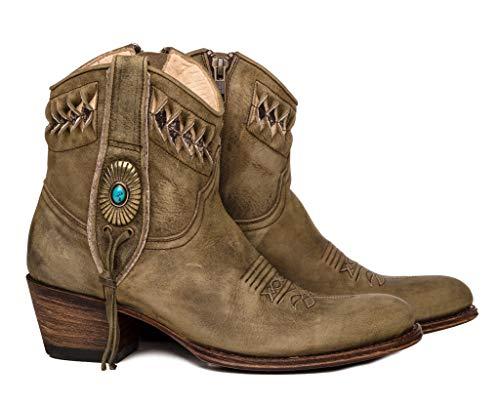 Sendra Boots Botín Cowboy 14095 Debora Flota Lavado (38 EU, Verde)