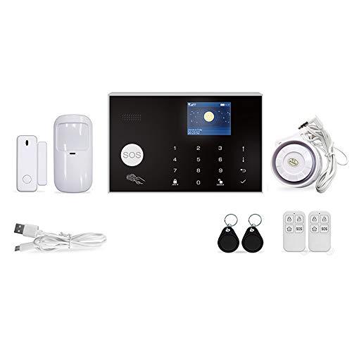 JVSISM InaláMbrico WIFI GSM Sistema de Alarma de Seguridad Kit APP Control Remoto LadróN Casa Inteligente PIR Detector de Puerta 433MHz Enchufe de la UE