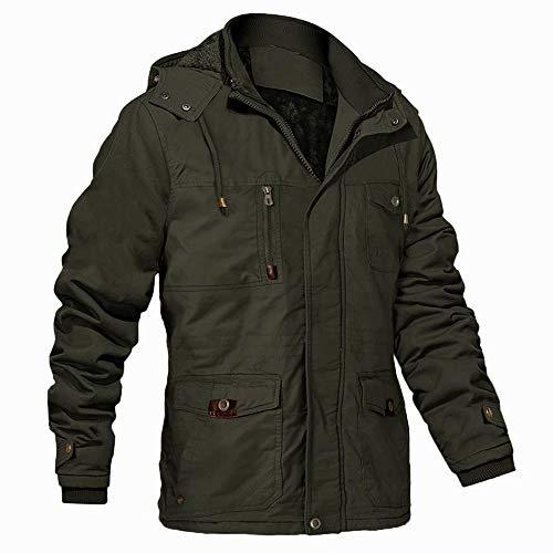 Winter Jacket for Men Fleece Jacket Outdoor Work Military Jacket...
