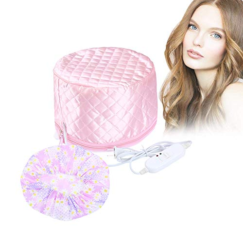 110V Hair Care Hat,Hair SPA Cap,Hair Care Steamer Cap,Thermal Hair Cap,Waterproof Home Hair Thermal Care Electric Hair Treatment Beauty Steamer Perfect for Family Personal Care (pink)