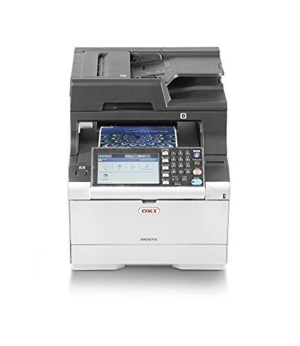"""OKI MC573dn 4-in-1-Multifunktionsdrucker (Drucken, Scannen, Kopieren, Faxen, A4, 30 S/Min, 7\""""Farbtouchdisplay (17,5 cm), 1.200x1.200 dpi, LAN, WLAN optional, Duplexdruck, ADF, max. 6.000 Seiten/Monat)"""