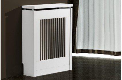 SHIITO Cubre-radiador de 84.5cm X 60cm, en Tres Colores. Blanco.