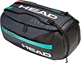 Head Gravity Sport Bag, Borsa da Tennis Unisex-Adulti, Nero/Teal, Taglia Unica