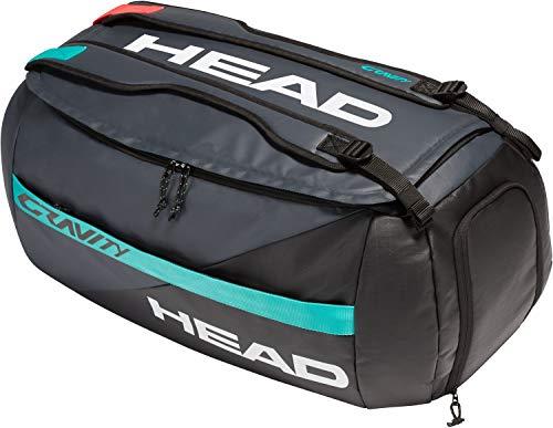 HEAD Gravity Sport Bag Sac de Tennis Mixte-Adulte, Noir/Turquoise, Taille Unique