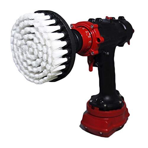 Cepillo de taladro premium,extrasuave,color blanco,13cm Para limpieza profesional. No raya las superficies....