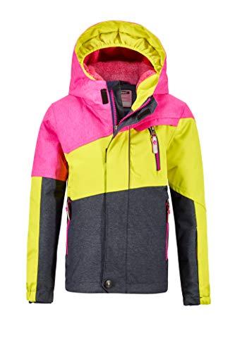 Killtec Mädchen Viewy MNS Ski Jckt B Funktionsjacke Mit Kapuze Und Schneefang, neon pink, 122/128