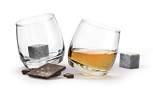 Sagaform Whiskey Geschenkset, Glas, Transparent, 9 x 6 x 9 cm, 4-Einheiten