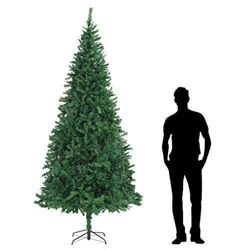 UnfadeMemory Árbol de Navidad Artificial, Crear Ambiente Navideño en Interior o en Exterior,Árbol de PVC,Soporte de Acero (Altura Total 300cm/Diámetro del Árbol 155cm, Verde)