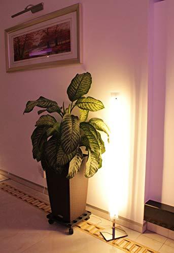 Trango 1517 LED Stehlampe 2-flammig mit LED Module Serie *STRAIGHT* I 30 Watt I in 3 Stufen dimmbar I satiniertes Echtglas Lampenschirm I Höhe ca. 1200mm I schlicht, modern & chic I Stehleuchte