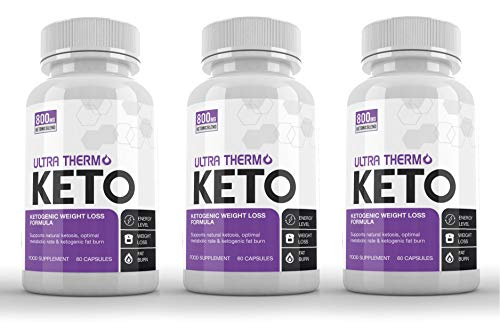 Ultra Thermo Keto (3 x 60 Capsules) - KETOGENIC Weight Loss Formula - Keto Capsules for Men & Women - Burn Body Fat & Weight - Keto Diet - Raspberry Ketones Extract (SUPPLEMENT PARADISE)