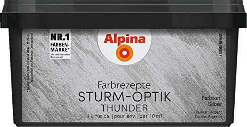 Alpina Effektfarbe Farbrezepte STURM-OPTIK silber 1 l