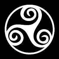 アウトドア ステッカー 車のステッカー漫画のオートバイビニールデカールブラック/シルバー15.2 * 15.2CMおかしい三脚巴シンボル アウトドア ステッカー (Color Name : Silver)