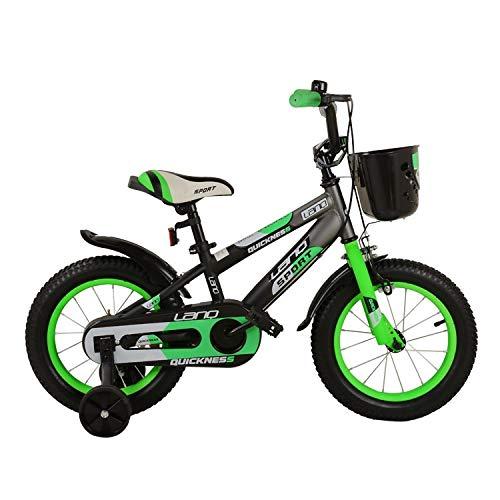 XXHDEE Kinderfahrrad, 3-8 Jahre Altes Babyfahrrad, 12/14/16/18 Zoll Mountainbike-Buggy Kinderfahrrad (Color : Green, Size : 14Inch)
