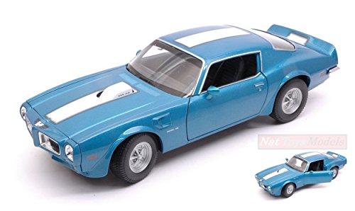 H-Customs 1972 Pontiac Firebird Trans Am Modellauto Auto Lizenzprodukt 1:34-1:39 blau