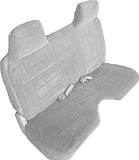 RealSeatCovers for Front Bench Thick Triple Stitched A27 Molded Headrests Large 5 to 7 inch Shifter Cutout Seat Cover for Chevy S10 GMC Sonoma S15 1991 1997 (Gray)