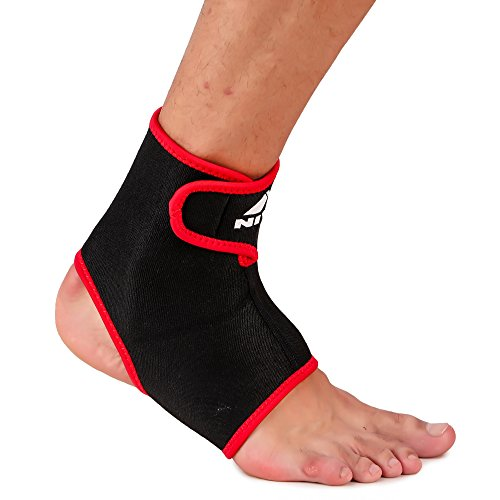 Nivia Ankel Support with Adjustable Velcro (Black, L)