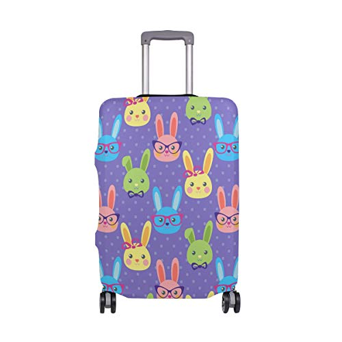 Moyyo Smart Bunny Travel Luggage Cover Suitcase Protector Cover Elastic Washable Suitcase Cover Fits 29-32 inch Luggage