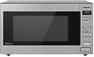 Panasonic Microwave Oven NN-SD945S Stainless Steel Countertop/Built-In with Inverter Technology and Genius Sensor, 2.2 Cu. Ft, 1250W (Renewed)