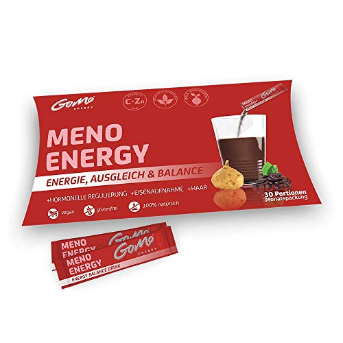 MENO ENERGY 100% natürliches Vitalgetränk für Balance, Energie & Ausgleich in den Wechseljahren |+Maca +Mönchspfeffer +Frauenmantel +Panax Ginseng +B-Vitamine +Kakao +Zink | Monatspackung 30 Portionen